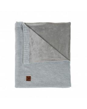 Knitted Grijs - Ledikantdeken