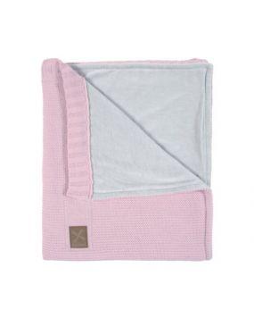 Knitted Roze - Ledikantdeken