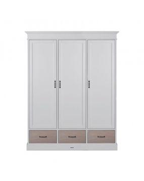 La Première Wit / Eiken - Linnenkast (3 deurs)