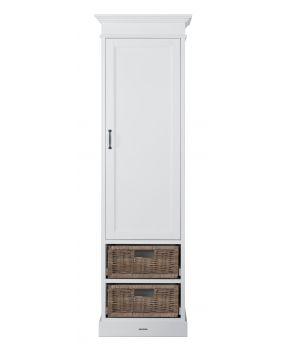 La Première Wit / Rattan - Linnenkast (1 deur)