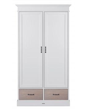 La Première Wit / Eiken - Linnenkast (2 deurs)