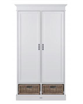 La Première Wit / Rattan - Linnenkast (2 deurs)