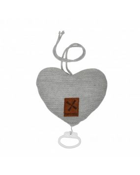 Knitted  Grey - Musical heart