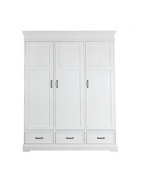 Savona Wit zonder kruis - Linnenkast (3 deuren)