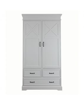 Savigno Wit met kruis - Linnenkast (2 deuren)